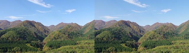 Oku-Nikkawa, stereo parallel view