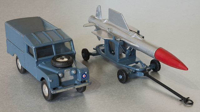 Corgi Toys RAF Land Rover and Thunderbird Guided Missile