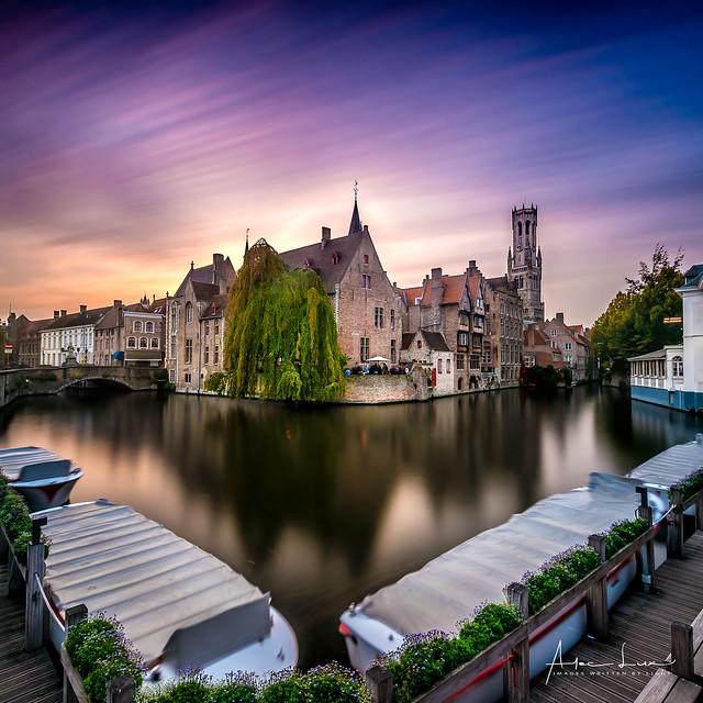 Golden Hour In Bruges