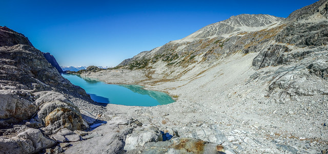 View from Wedgemont Glacial Towards Wedgemont Lake-Whistler, BC, Canada Note:
