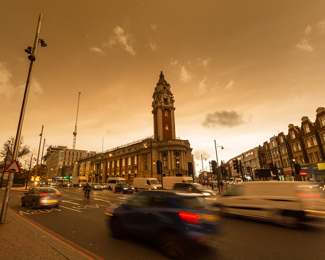 Brixton during Hurricane Ophelia