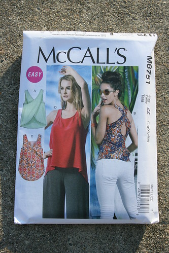 McCall's 6751 Cross-Back Top in Linen | by patternandbranch