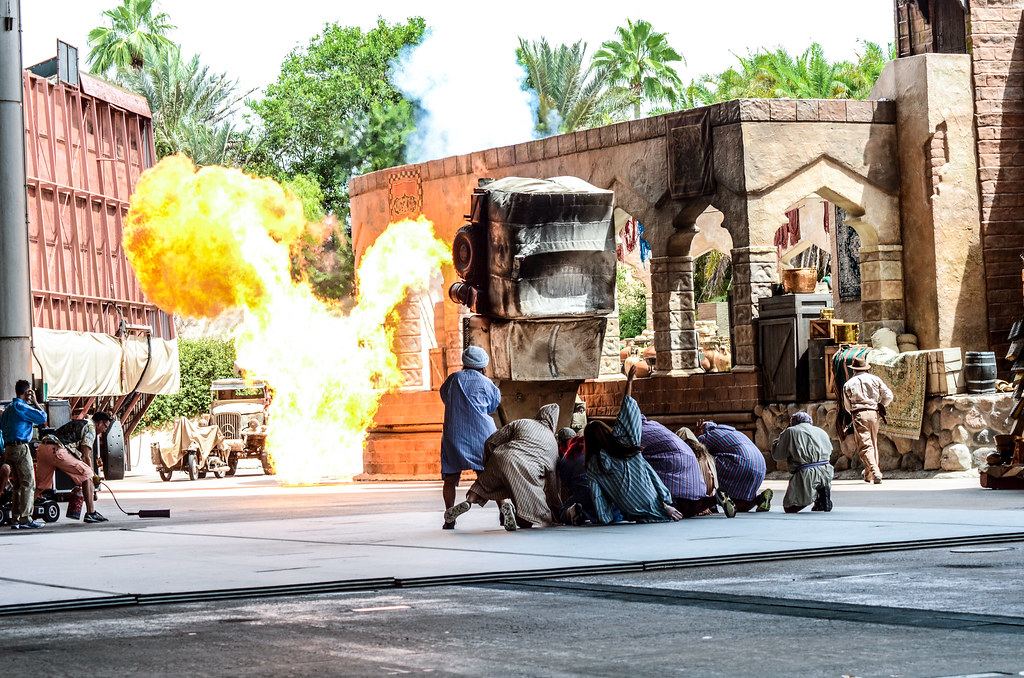 Car exploding DHS stunt show