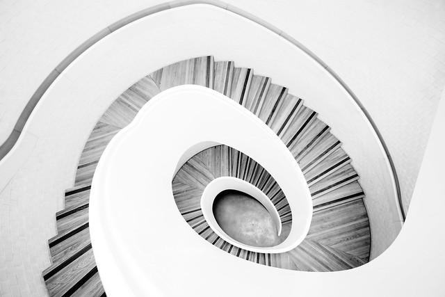 Newport Street Gallery spiral staircase