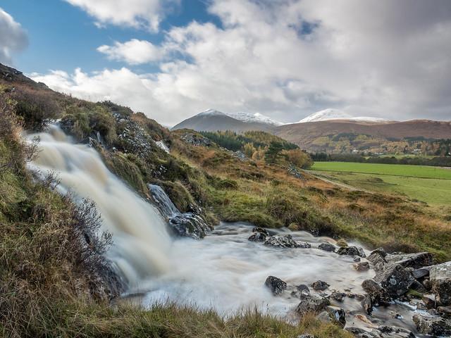 Falls on the Allt na Glaic Uidhre