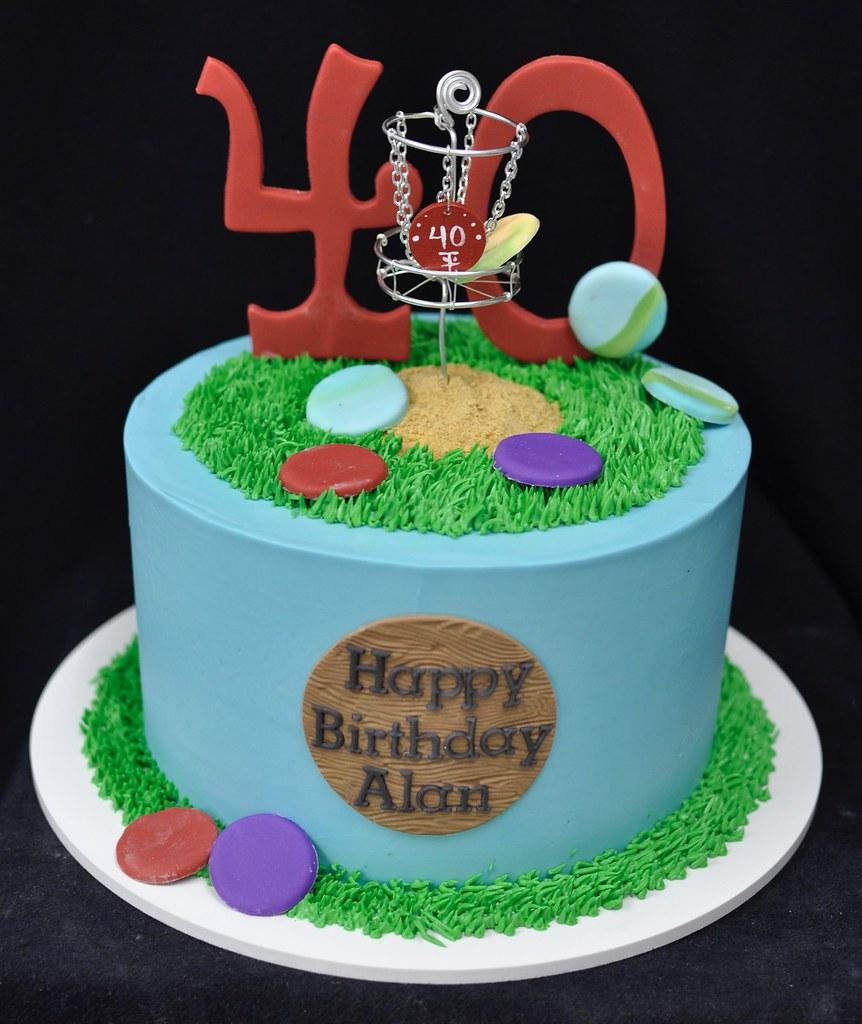 Awesome Disc Golf Birthday Cake Jenny Wenny Flickr Funny Birthday Cards Online Alyptdamsfinfo