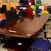 Large mahogany boardroom table E450