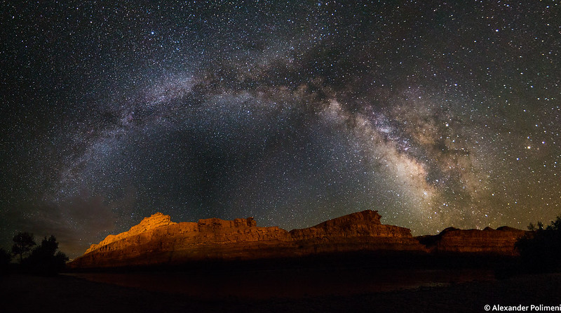 The Milky Way over Mexican Hat, Utah