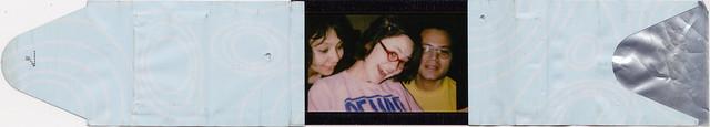Mom, Sonya, and Nick on Polaroid iZone film