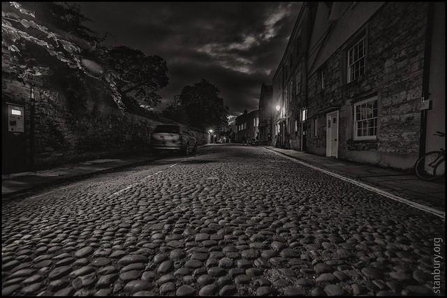 Merton Street at night