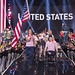 US Team captain Capt. Christy Wise, U.S. Air Force, carries the American flag as the US team enters the Opening Ceremony for the 2017 Invictus Games at the Air Canada Centre in Toronto on September 23, 2017. At right is co-captain Sgt. Ivan Sears, U.S. Marine Corps. The Invictus Games, established by Prince Harry in 2014, brings together wounded and injured veterans from 17 nations for 12 adaptive sporting events, including track and field, wheelchair basketball, wheelchair rugby, swimming, sitting volleyball, and new to the 2017 games, golf.    (DoD photo by Roger L. Wollenberg)