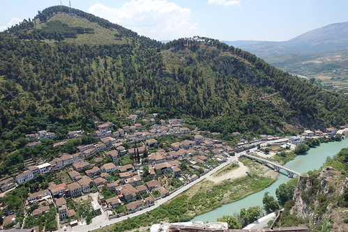 albania berat castle kalajaeberatit gorica osumiriver