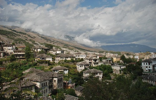 gjirokastër albania europe old ancient cold stone building mountain nature city town vilage trip holyday roadtrip