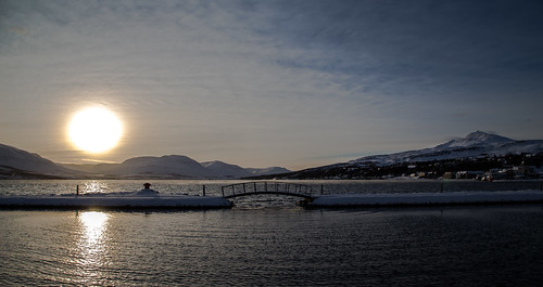 snow sea sun akureyri pollurinn nature northiceland urbannature november bridge littlebridge sky landscape súlur mountains mountain sunrise