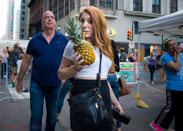 Drinking From A Pineapple