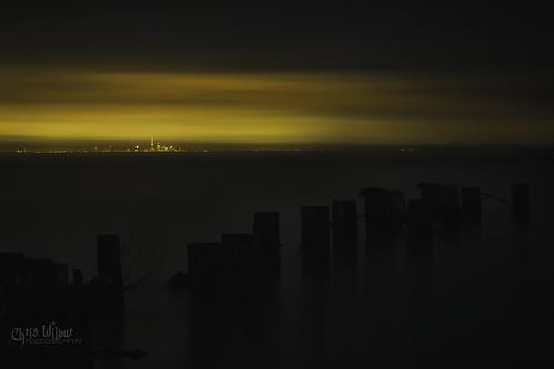 toronto ontario canada fifty 50 point dock long exposure city lake shore urban water