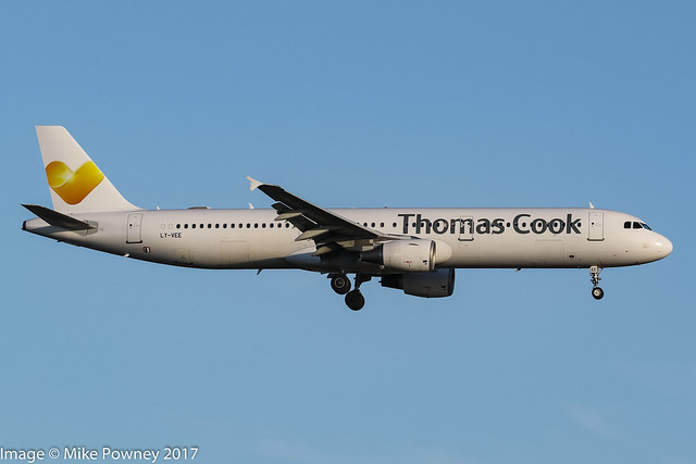 LY-VEE - 1998 build Airbus A321-212, leased to Thomas Cook/Condor Flugdienst for Summer 2017