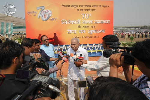 Member Executive Committee, Kirpa Sagar, speaking with media