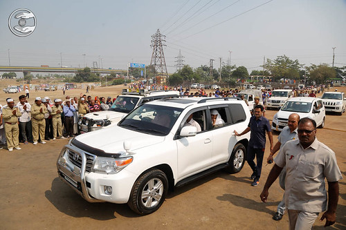 Arrival of Her Holiness in the Samagam Ground