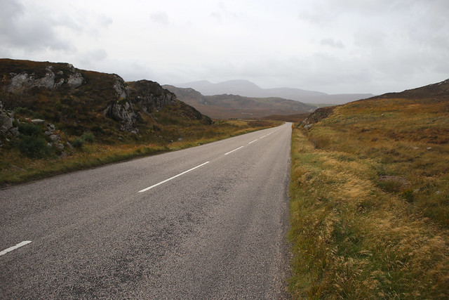 The A838 between Kyle of Tongue and Hope