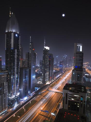dubai united arab emirates four points sheikh zayed road night city cityscape landscape long exposure 1018mm