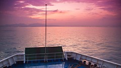 Sunrise at Sunda Strait