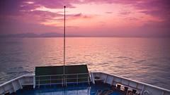 Sunrise at Sunda Strait