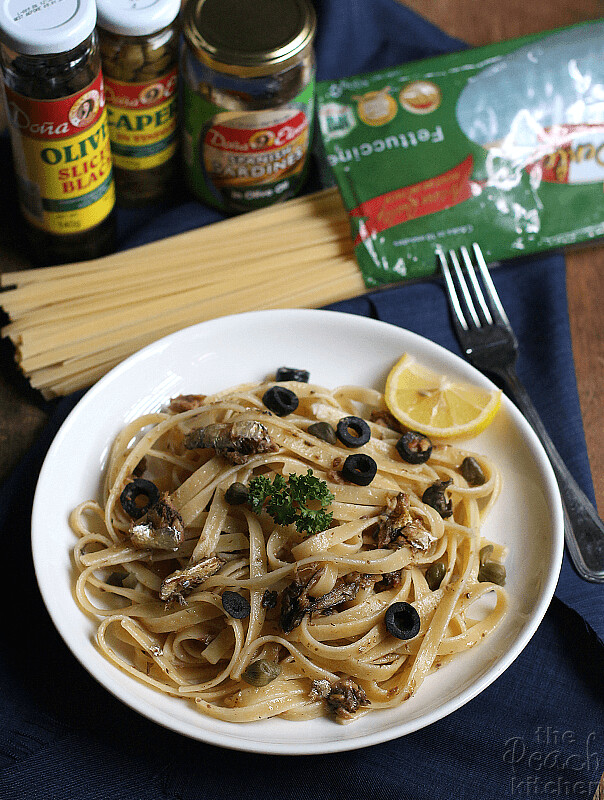 Sardines,-Olives-and-Capers-fettuccine