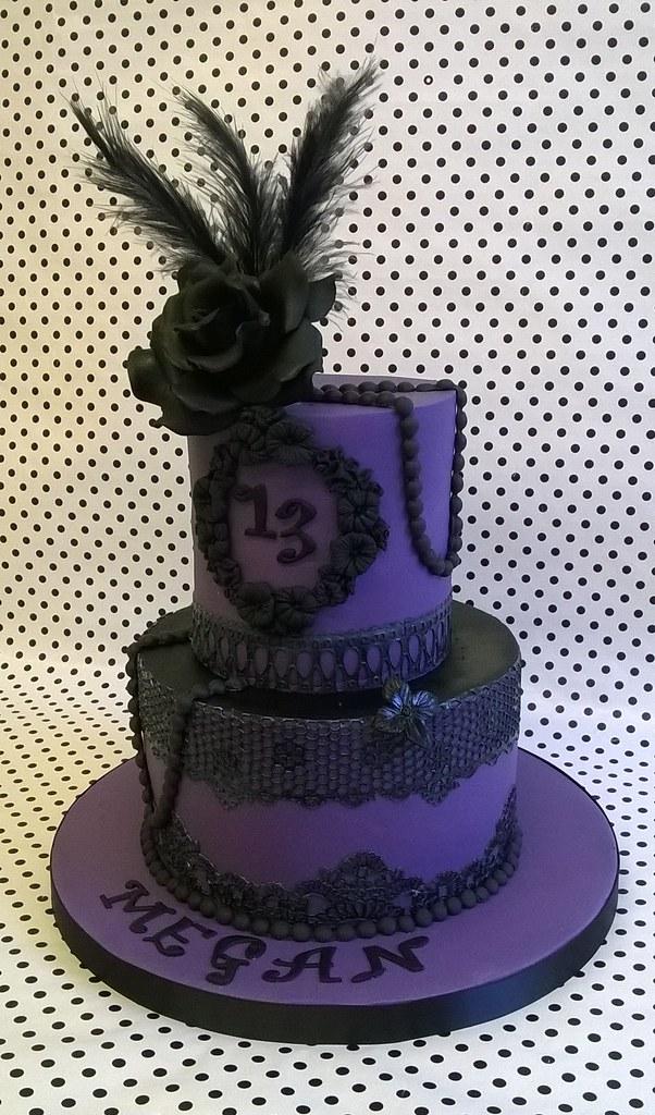 Astounding Gothic 13Th Birthday Cake My Daughters 13Th Birthday Cake Flickr Funny Birthday Cards Online Aeocydamsfinfo