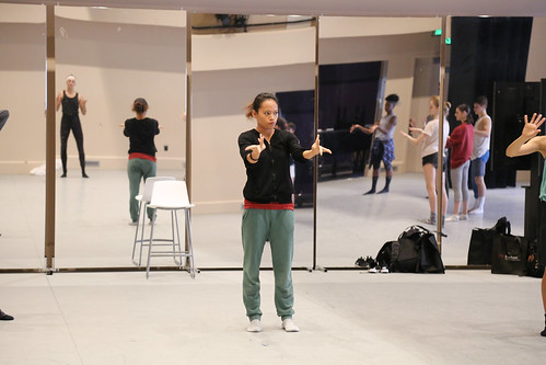 Akram Khan dancer Joy Alpuerto Ritter leading master class with BFA students