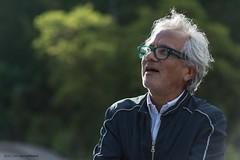 Anish Kapoor looks at his work Sky Mirror
