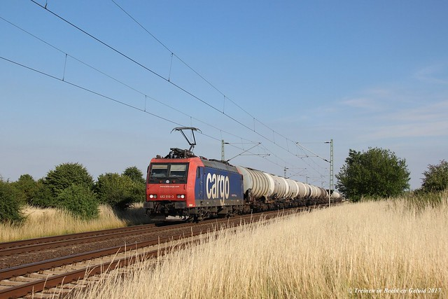 Neuss- Allerheiligen (D) | SBB Cargo 482 016-3 met keteltrein richting Krefeld.