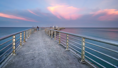 sebastian inlet jetty pier railing florida state park vanishing point sunset sunrise fishing fisherman long exposure sony a6300 1018mm brevard county space coast