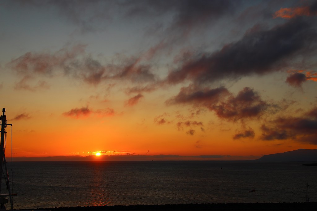 Reykjavik sunset.