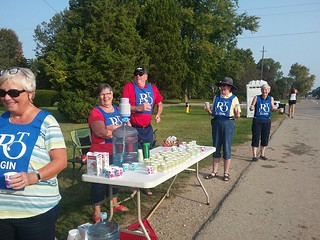 Manning the Bostwick Road water station.