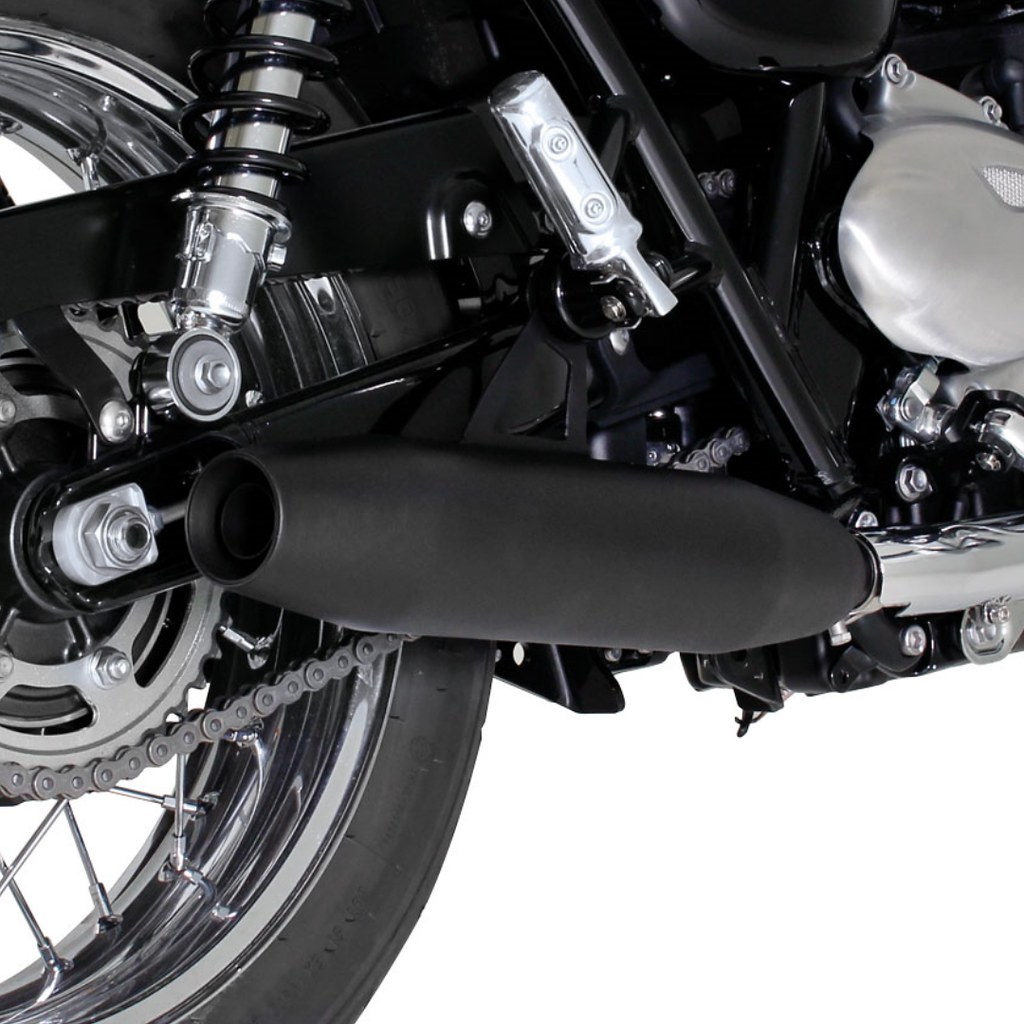 REMUS CUSTOM Exhaust for the Triumph Bonneville T100 Mod  … | Flickr