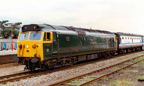 50007 at Honiton working a Waterloo to Exeter Service in the in the early 90,s