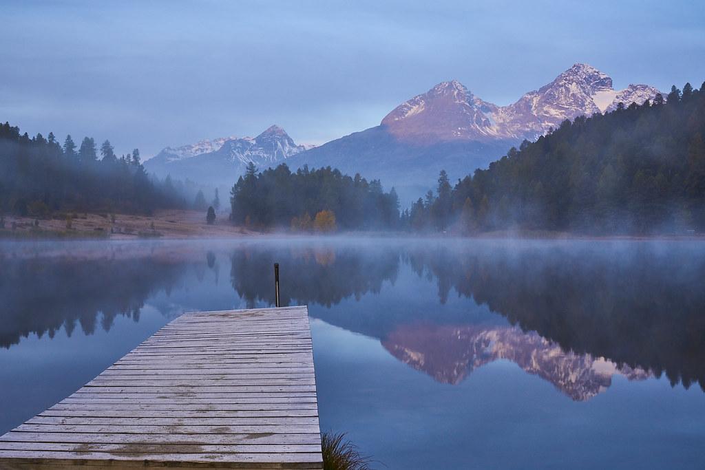 Morgens am Stazer See