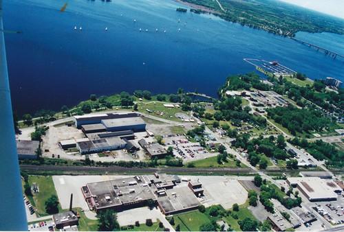 aerialphotographs 2000s shoreline industrial bayofquinte