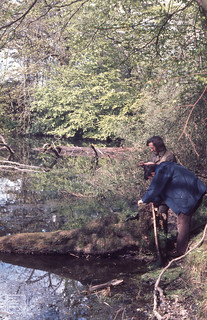 Hensol 1/2 way pond. Roy Perry and Clewer from Radyr. 14 May 1977