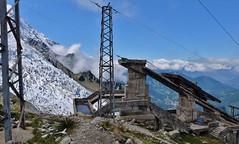 Gare de la 3em section de l'ancien telepherique de l'aiguille du Midi, Les Glaciers, Chamonix
