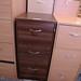 Walnut 3 drawer filing cabinet E110
