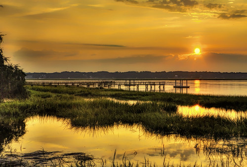 usa southcarolina beaufort marsh sunrise