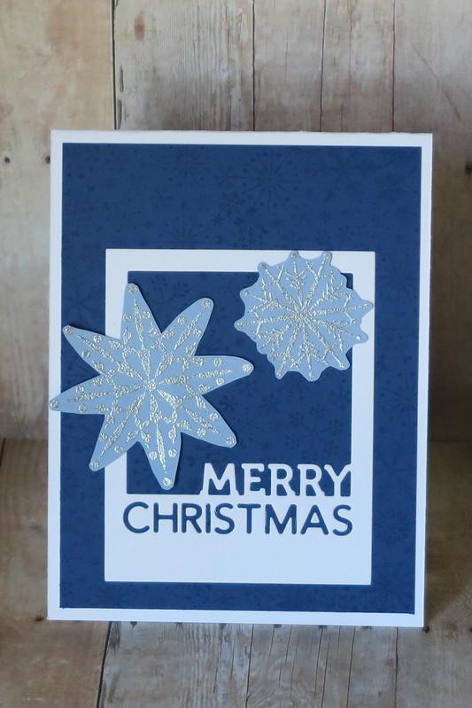 Blue Snowflakes Christmas