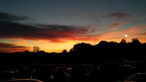 sunset evening clouds sky dusk 42500