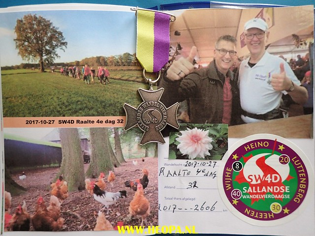 2017-10-27       Raalte 4e dag     33 Km  (198)