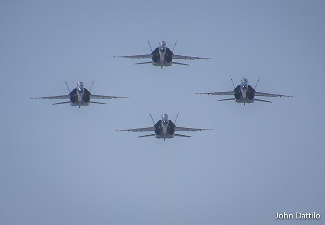 Blues in diamond formation