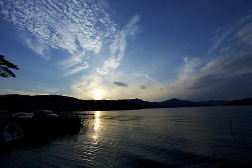 autumnvacation2017 hakone kanagawa japan ashinoko lakes landscape nature sunsets skies mountains canon6d