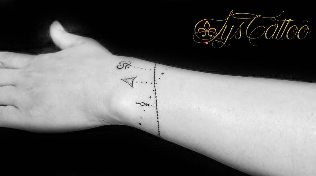 Bracelets Symboles Tatouage Avant Bras Poignet Femme Comm