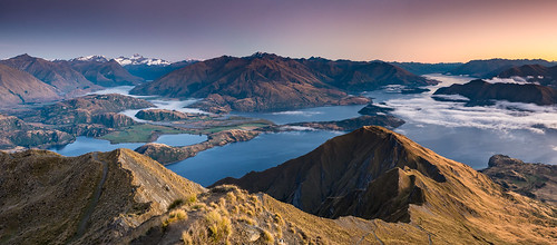 lake wanaka roys peak otago south island new zealand mountains landscape panorama sunrise hiking travel nikon d7100 1755mm